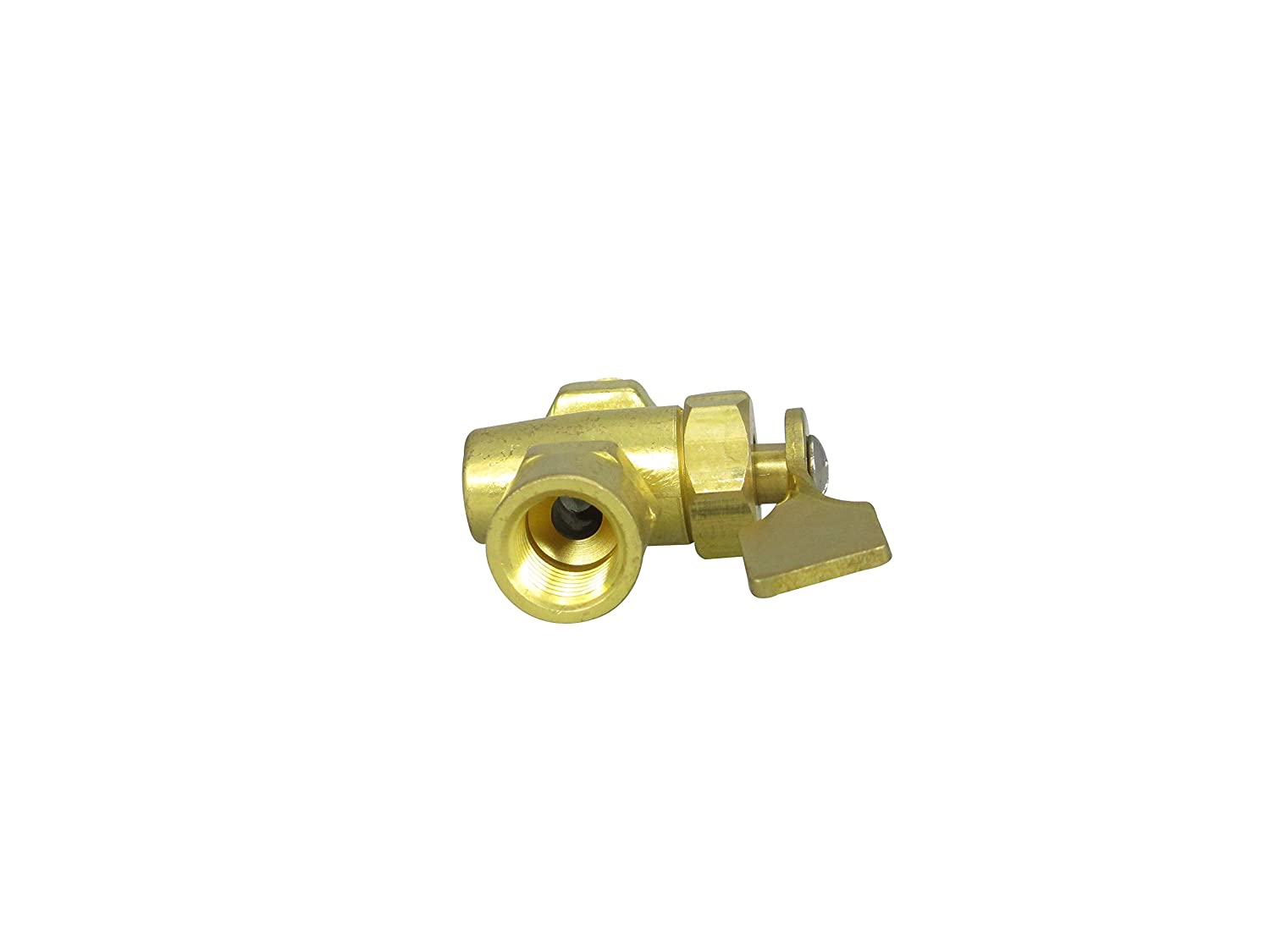Pactrade Marine Boat Fuel Tank 2 Way On-Off Horizontal Shut Off Valve 1//4/'/' NPT