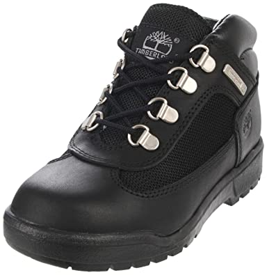 Timberland Leather and Fabric Field Boot (Toddler Little Kid Big Kid) f3597844f374