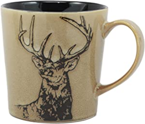 Ebros The Emperor Mule Deer Mug Glazed Stoneware Ceramic Coffee Cup Wildlife Design
