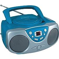 Sylvania SRCD243 Portable CD Player with AM/FM Radio, Boombox (Blue)