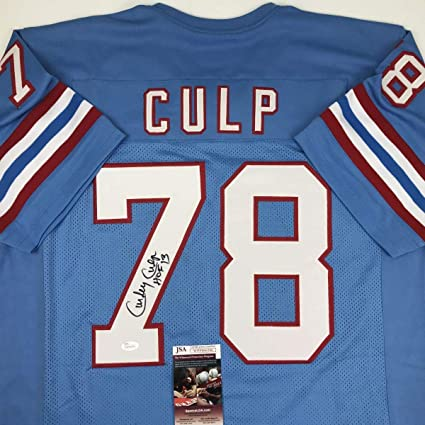 Autographed Curley Culp Jersey - HOF 13 Blue COA - JSA Certified -  Autographed NFL Jerseys e72d00dcd