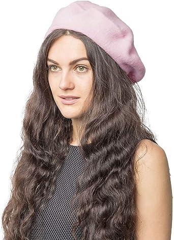 Cream Beret Hat Plain Wool Autumn Women Girls Fashion French Winter UK