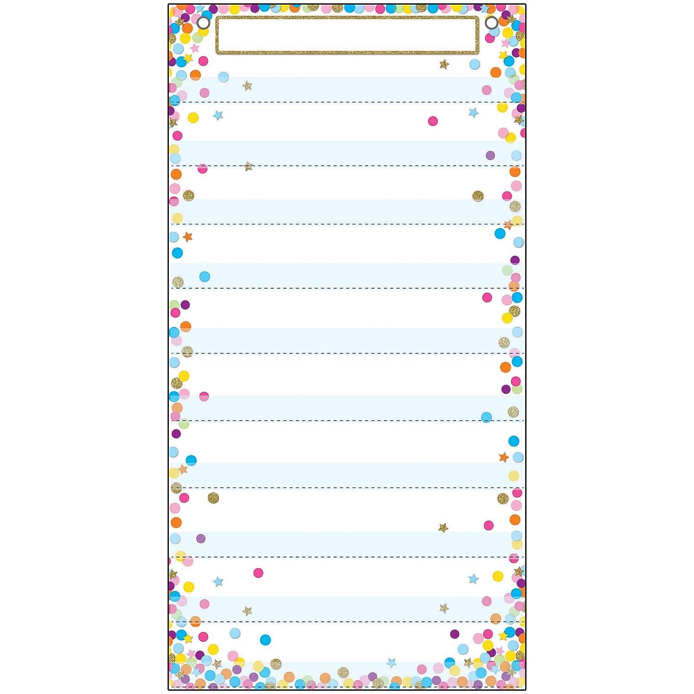 Ashley Productions ASH94201 Smart Poly Pocket Chart, 10 Pockets, Confetti, Polypropylene (PP)/Steel, 13