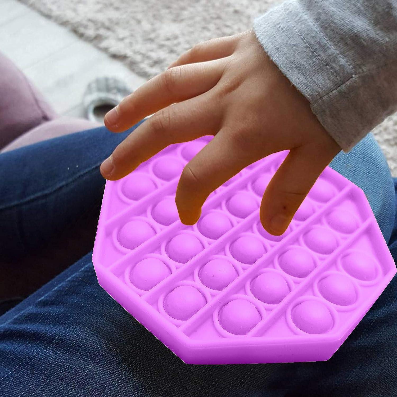 Jouet Anti-Stress en Silicone pour Besoins Sp/éciaux dautisme Pousser Pop Pop Bubble Sensory Fidget Toy Violet Jouet Sensoriel /à Presser