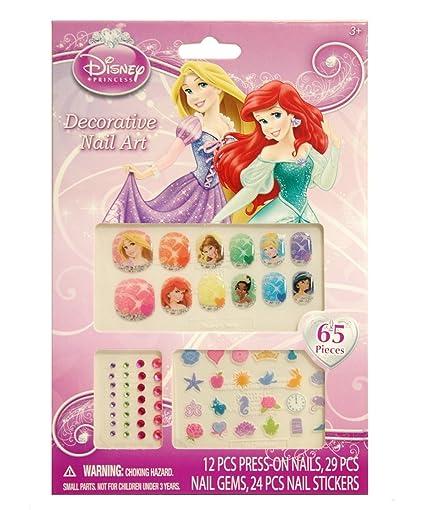 Amazon Disney Princess 65 Piece Decorative Nail Art Kit Toys