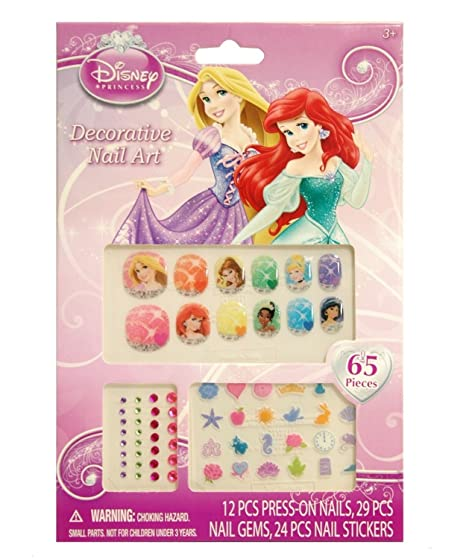Amazon Disney Princess 65 Piece Decorative Nail Art Kit Toys