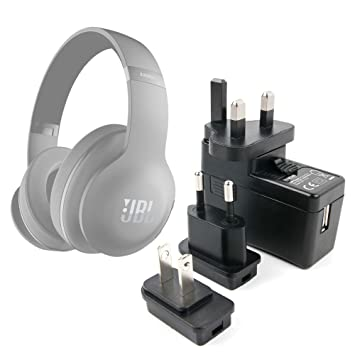 DURAGADGET Kit De Adaptadores Con Cargador Para Auriculares JBL Duet BT/JBL E45BT (2017)/JBL Everest Elite SDK/Kotion Each B3505/Logitech G533: Amazon.es: ...