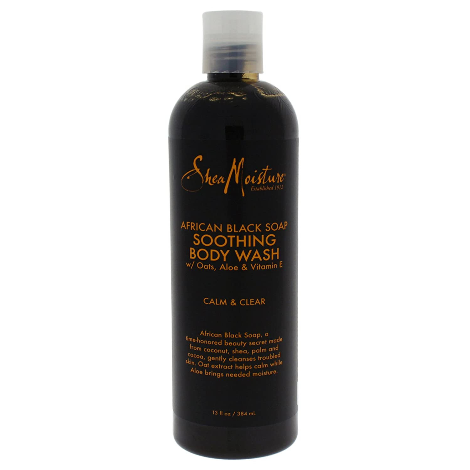Shea Moisture African Black Soap Body Wash, 384ml U-BB-2885