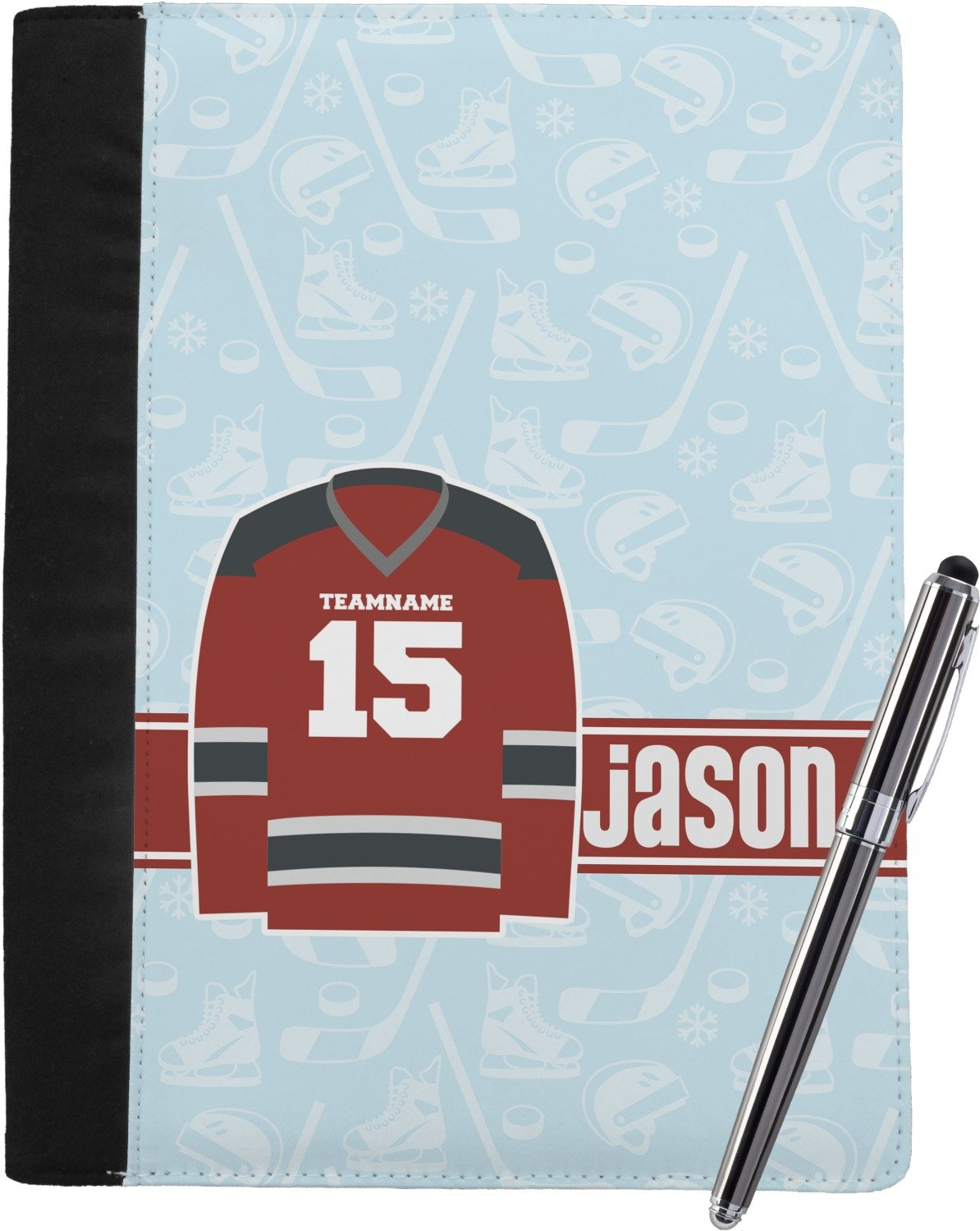 Hockey Notebook Padfolio (Personalized)
