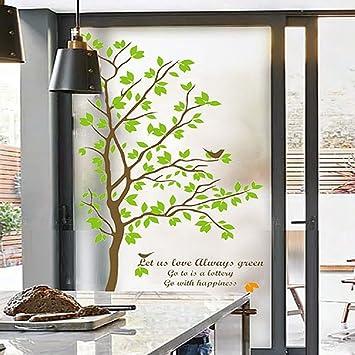 Amazoncom Beyong Life Bird Green Tree Privacy Window Film Glass - Bird window stickers amazon