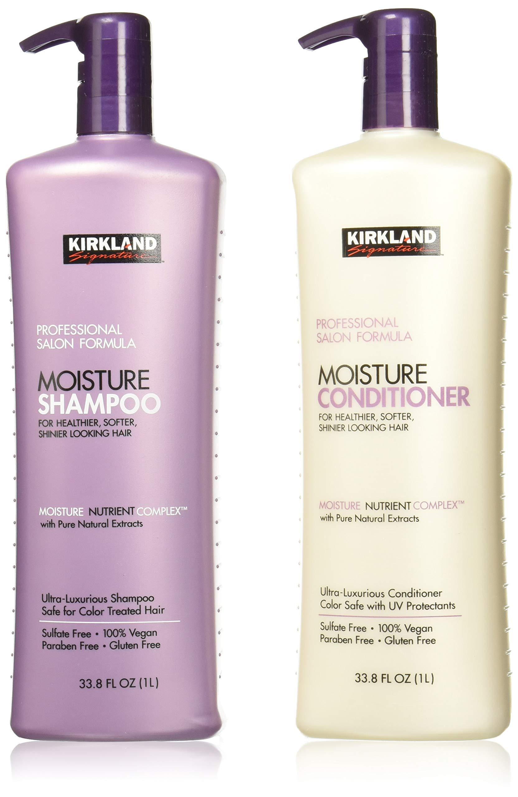 Kirkland Signature Salon Formula Moisture Shampoo & Conditioner, 33.8 Ounce by Kirkland Signature