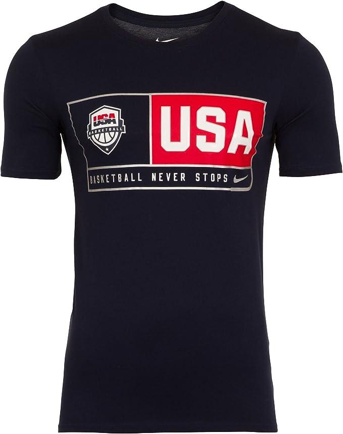 Nike USA Basketball M Nk Dry tee SS Camiseta de Manga Corta, Hombre, Azul (Obsidian), L: Amazon.es: Ropa y accesorios