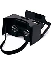 Virtual Real Store Google Cardboard 3D Virtual Reality Headset Glasses,DIY Cardboard Compatible with 3-6inch Screen Android and Apple Smartphone(Black)