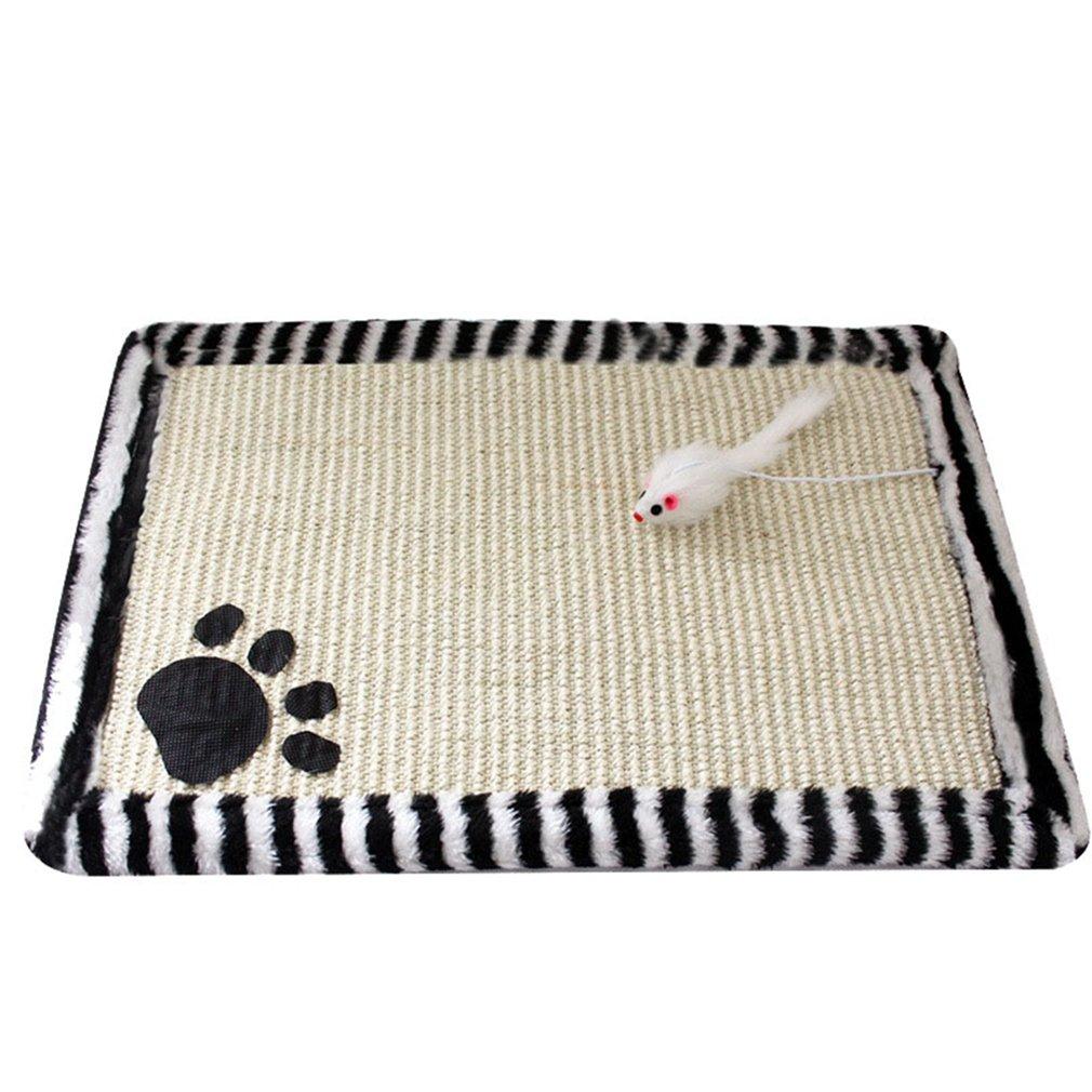 Yuncai Carino Tappeto Gatto per Artigli di Rettifica Sisal Materassino per Gatto Giallo