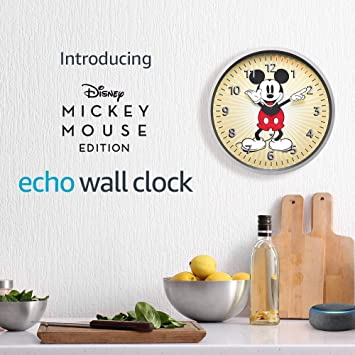 Echo Wall Clock - Disney Mickey Mouse Edition - see timers at a glance