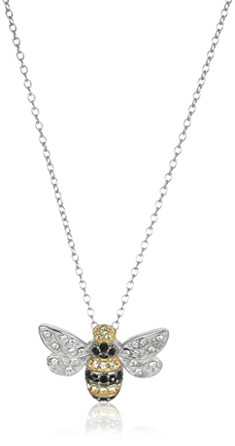 Amazon sterling silver bumblebee pendant necklace made with sterling silver bumblebee pendant necklace made with swarovski crystal 18quot aloadofball Images