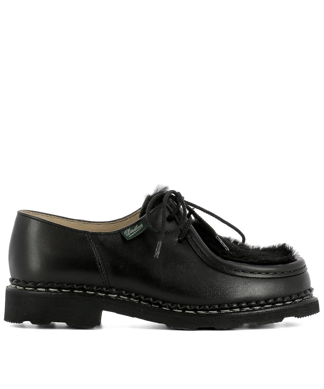 Paraboot Mujer 130473BLACK Negro Cuero Zapatos De Cordones 40 IT - Tamaño de la Marca 7