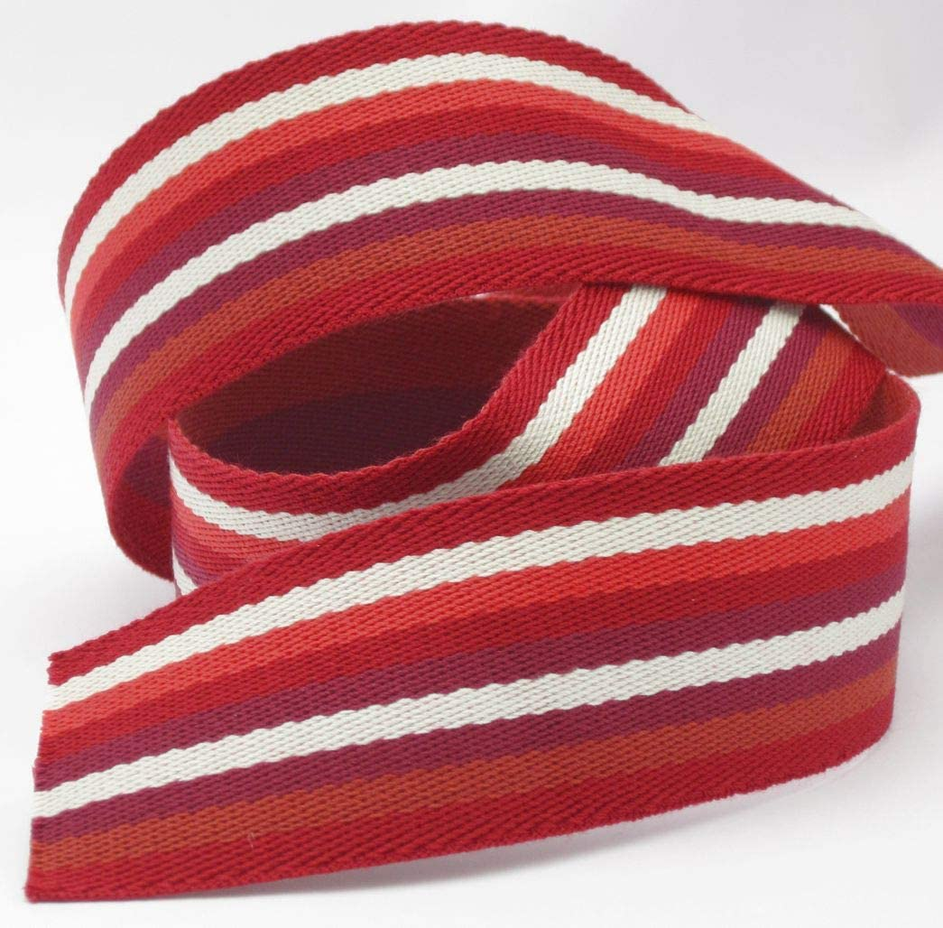 pink Polyester Stephanoise Gurtband 40mm breit n/ähen 1 Meter Meterware Streifen f/ür Taschen