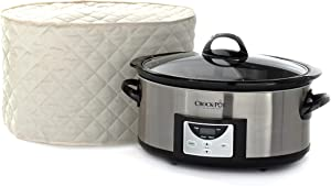 Covermates – Slow Cooker Cover – 17W x 12D x 17H – Diamond Collection – 2 YR Warranty – Year Around Protection - Cream