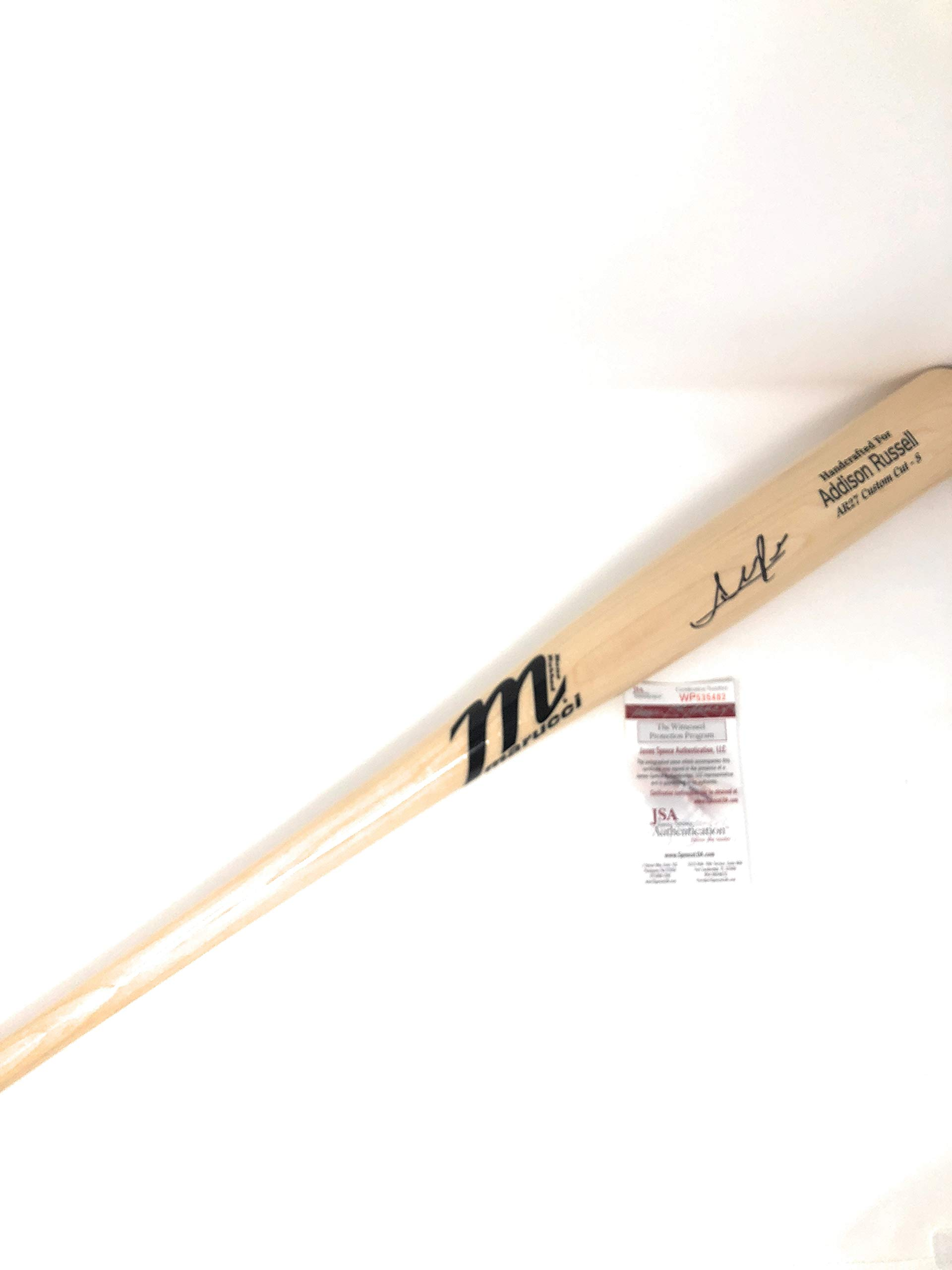 Addison Russell Chicago Cubs Signed Autograph Game Model Authentic Baseball Bat JSA Wintessed Certified