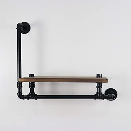 Amazon.com: KINMADE Industrial Pipe Floating Shelf Rustic ...