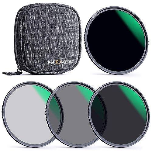 NDフィルター×4&保護ポーチ K&F Concept 72mm ND4+ND8+ND64+ND1000フィルターセット