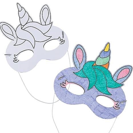 Fun Express Maschere Da Colorare A Forma Di Unicorno 12 Pezzi
