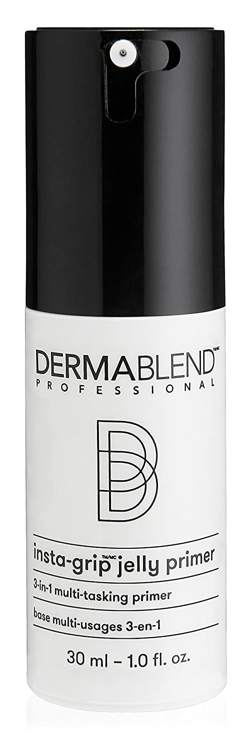 Dermablend Insta-Grip Jelly Primer Face Makeup, Hydrating Silicone-Free Primer for Dry Skin, 1.0 Fl Oz.