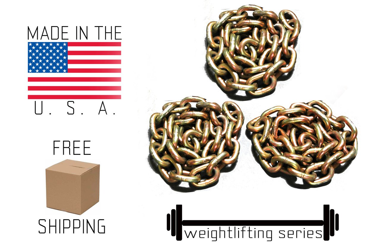 Weight Lifting Chain - 45 lbs - Powerlifting - Crossfit by Advantage Rigging