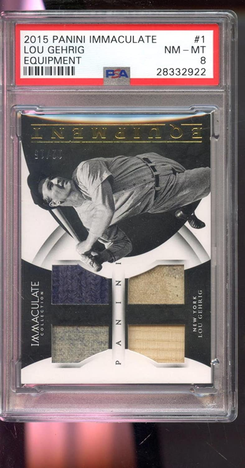 official photos 03a46 d110d Amazon.com: 2015 Panini Immaculate Equipment Lou Gehrig Game ...