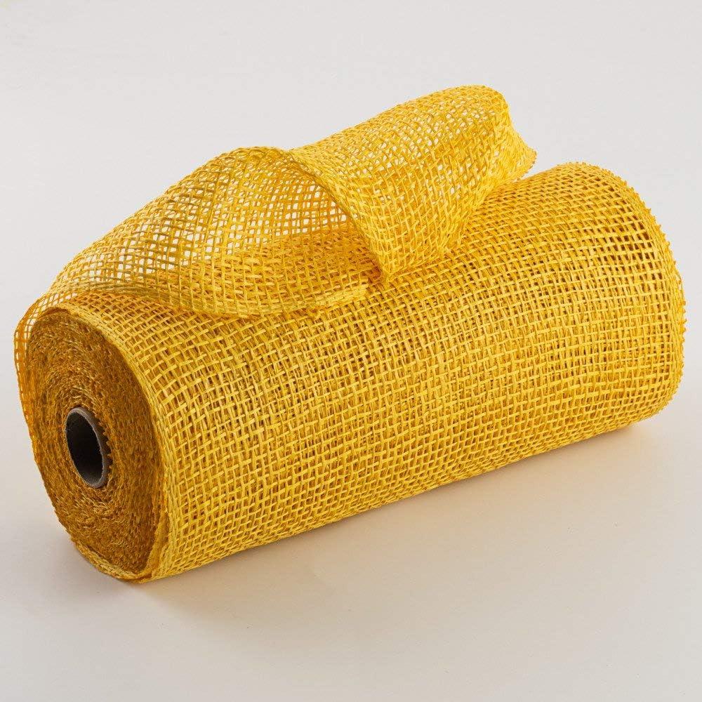 Poly Burlap Deco Mesh 10 x 10 Yards Yellow