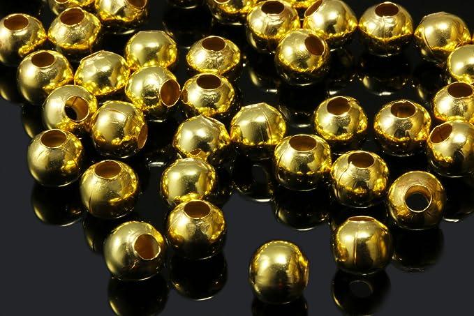 500 Stück Quetschperlen 2mm x 0,7mm Gold goldfarben 2 mm