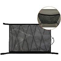Roccar Ceiling Cargo Net Pocket, Car Roof Long Trip Storage Bag with Zipper, Adjustable Automotive Sundries Storage…