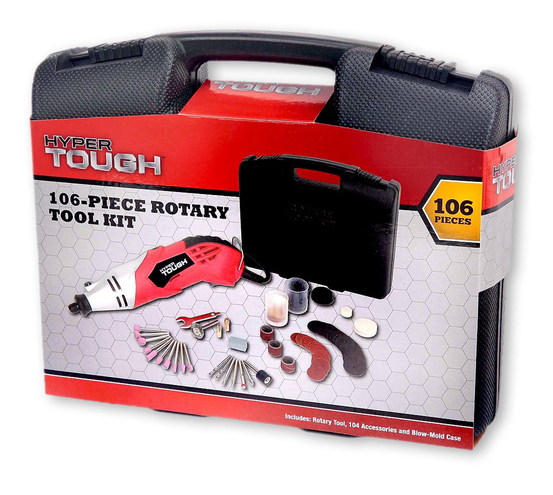 Hyper Tough 106 Piece Rotary Tool Kit Multipro Automotive Set 60 Pcs