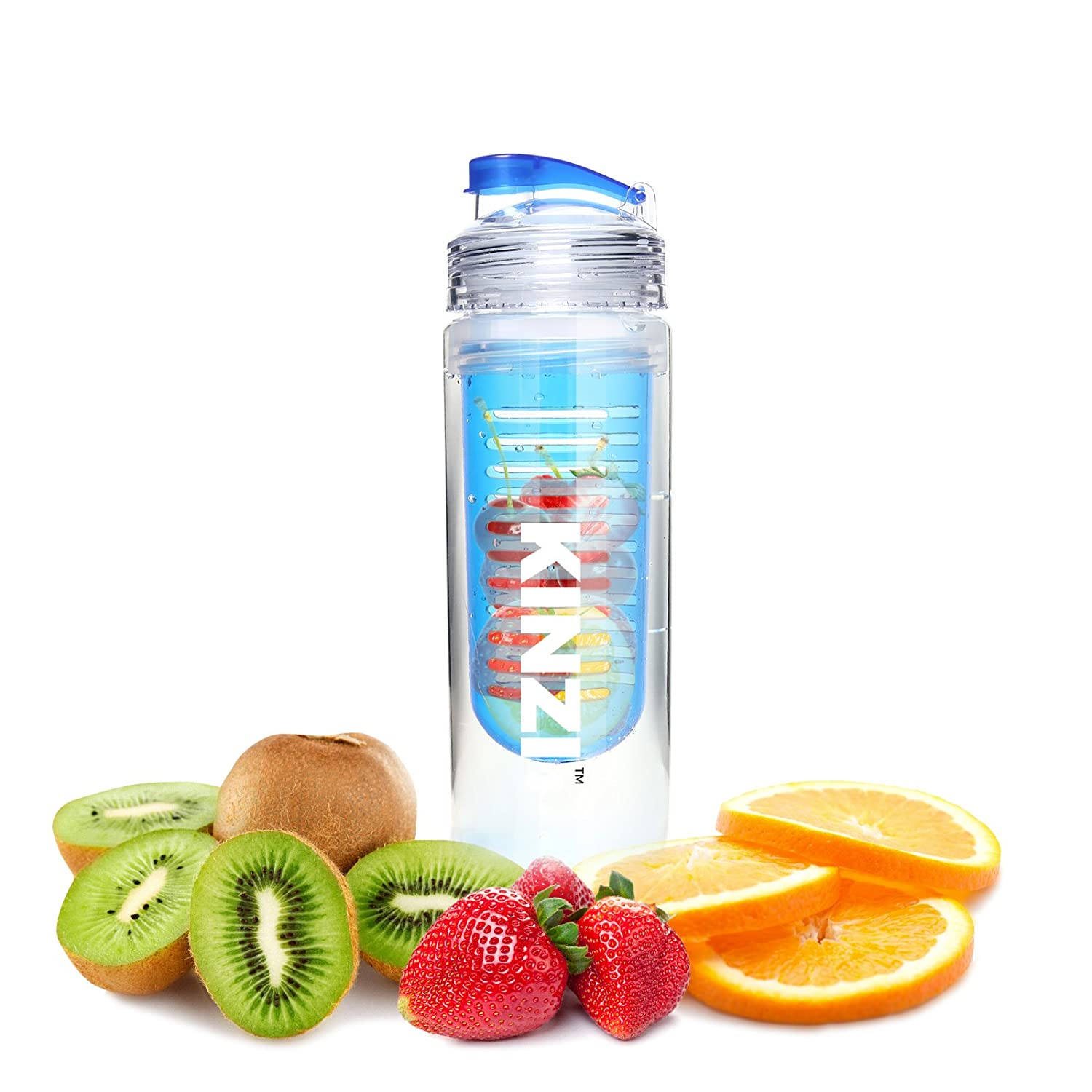 Kinzi Sport Fruit Infuser Water Bottle, 27 oz by Kinzi