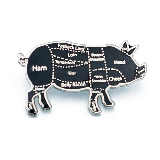 71SvQJOm6fL._UX522_ amazon com pig butcher cuts diagram hard enamel lapel pin (silver