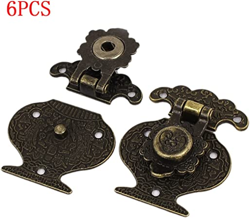 Saim Vintage Style Toggle Latch Catch Trunk Lock for Chest Case Gift Box 51mm x 41mm x 8mm 6Pcs
