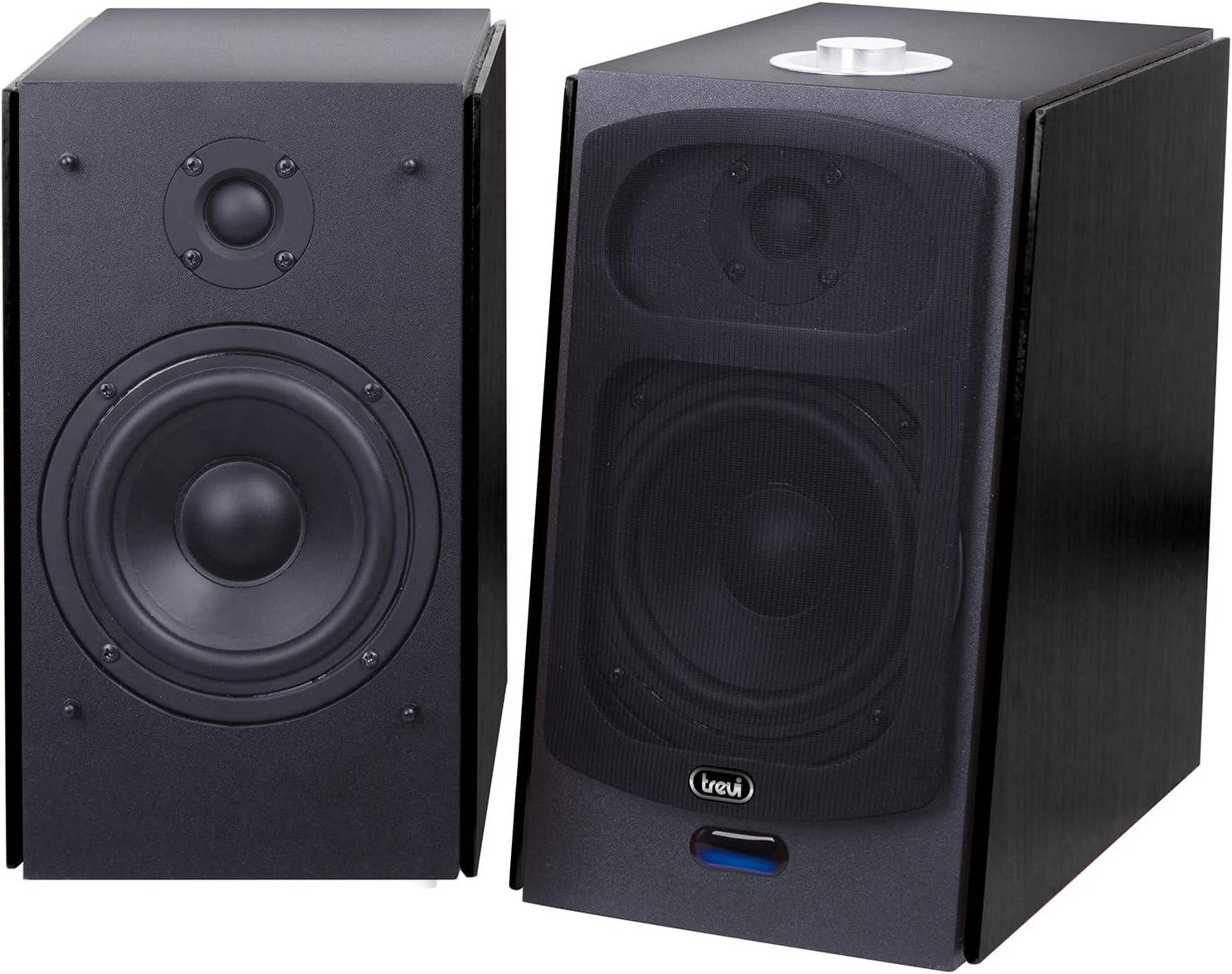 Trevi AVX 590 BT 120W Negro Altavoz - Altavoces (De 2 vías, Inalámbrico y alámbrico, 3.5mm/USB/Bluetooth, 120 W, 50-20000 Hz, Negro)