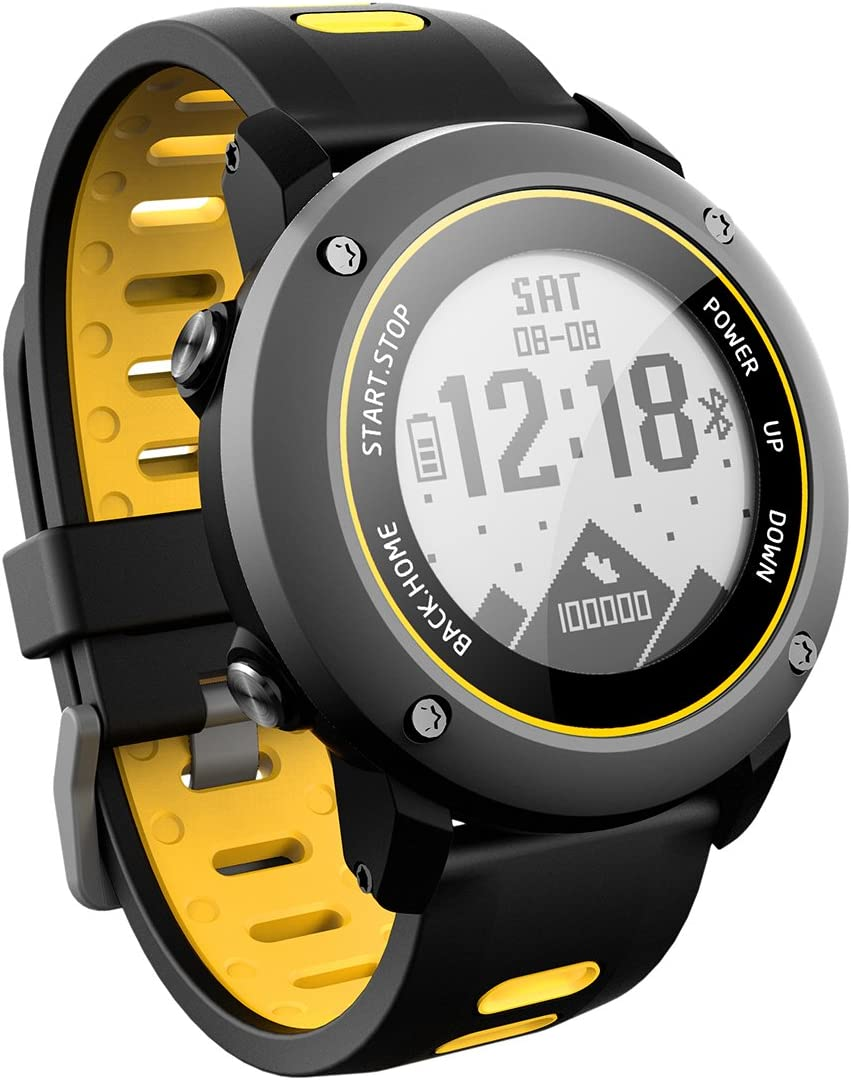 OOLIFENG GPS Reloj Inteligente, Fitness Tracker Con Altímetro Barómetro Brújula Pulsómetros IP68 Impermeable Digital Deportes Reloj Para Deportes Al Aire Libre