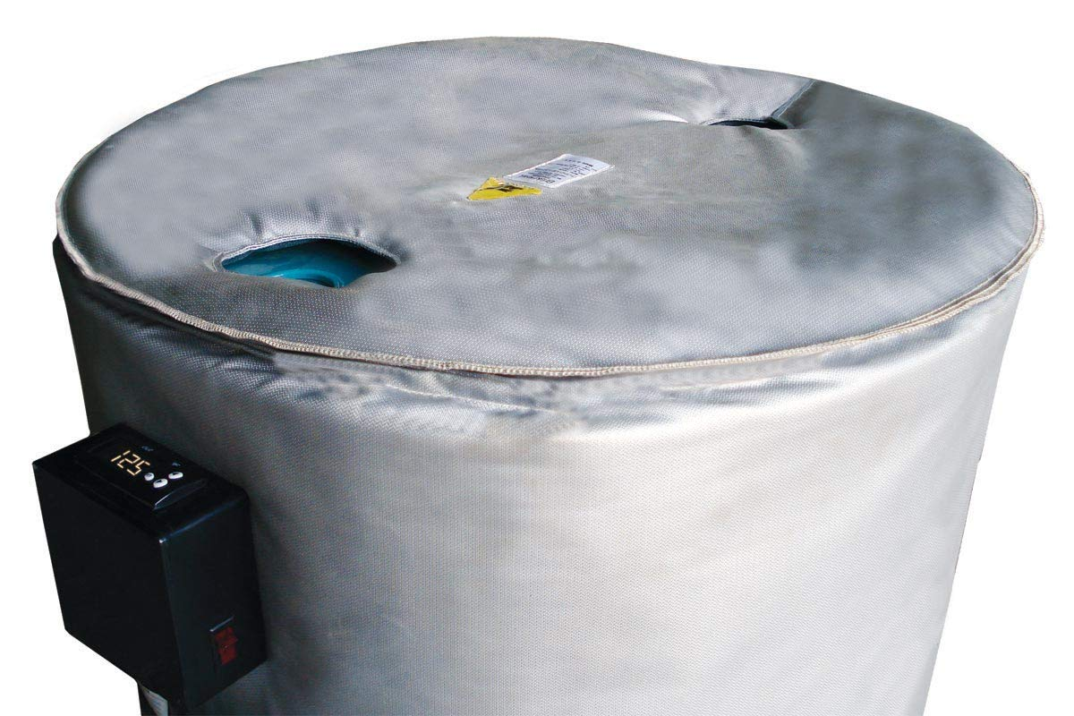 BriskHeat FGDC55 FGDI Drum Insulator Cover For 55-Gallon Drums, Round Shape, Diameter: 25-Inches