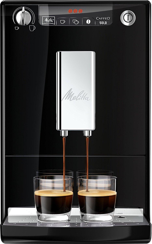 Melitta Caffeo Solo E950-101 - Cafetera Automática, Pantalla LED, Simple e Intuitiva, 1.2 Litros, Negro