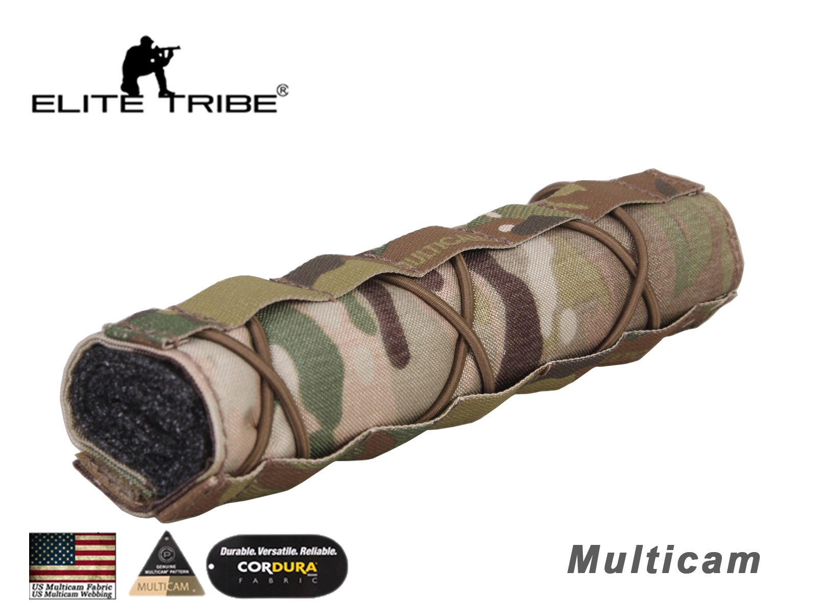 Military Shooting Tactical 22cm Suppressor Cover Silencer Cover Multicam