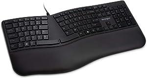 Kensington Pro Fit Ergonomic Wired Keyboard- Black (K75400US)