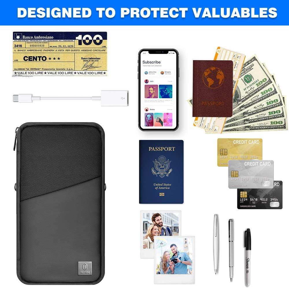 WiWU Travel Mate Passport Holder Travel Document Organizer Bag 7