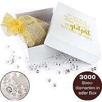 WeddingTree 3000 Diamantini Decorativi – Diamanti Decorativi in Sacchetto d'organza e Scatola – Cristalli Decorativi Matrimonio - 6 mm, Acrilico Trasparente