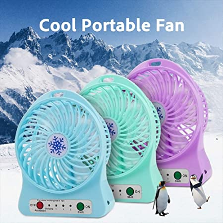 GrmeisLemc Portable Summer Cooling Fan USB Mini Desktop Tabletop Speed Adjustable Cooler Purple
