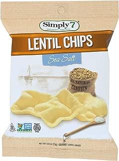 product image for Simply 7 Lentil Chips - Sea Salt - Case of 24 - 0.8 oz.