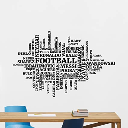 Football Players Wall Decal Football Soccer Top Player Vinyl