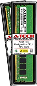 A-Tech 32GB (2 x 16GB) RAM for DELL XPS 8920 | DDR4 2133MHz DIMM PC4-17000 288-Pin Non-ECC UDIMM Memory Upgrade Kit