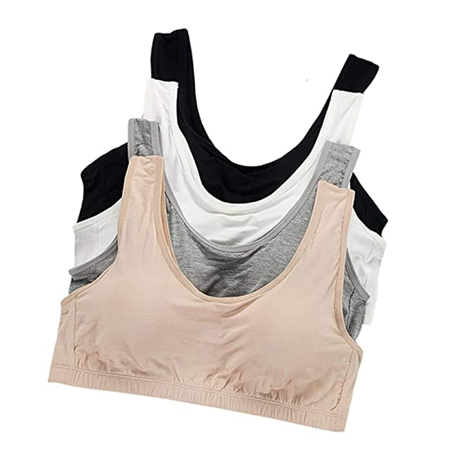 51397f8f37 Image Unavailable. Image not available for. Color  Teen Girls Wireless Plus  Size Camisole Training Bra ...